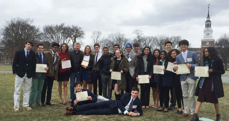 Model UN Team Wins Best Large Delegation at Dartmouth Conference