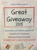 Spotlight on Service Learning: Great Giveaway 2018