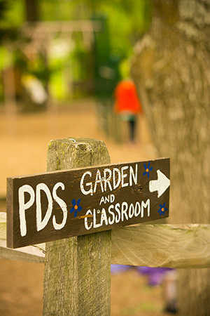 Garden and Garden Classroom Sign