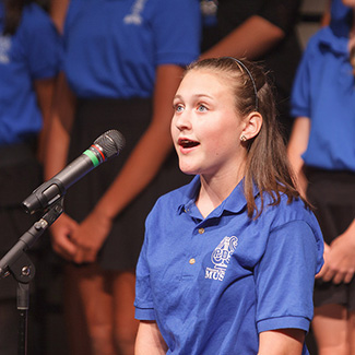 Middle School Chorale Soloist